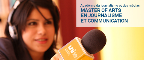 Master of arts en journalisme et communication