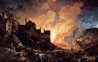 """Coalbrokdale by Night"" de Philippe-Jacques de Loutherbourg"