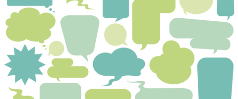 35456-resize480x359-crop480x200.jpg (Collection of colorful speech bubbles...